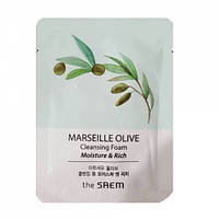 Увлажняющая оливковая пенка The Saem Marseille Olive Moisture and Rich Cleansing Foam