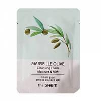 Увлажняющая оливковая пенка The Saem Marseille Olive Moisture and Rich Cleansing Foam