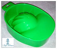 Ванночка для маникюра зеленая