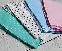 Набор лоскутов тканей для пэчворка с горошком 3 мм, №26