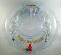 Круги на шею Babyswimmer для детей от 6-36 мес с погремушками