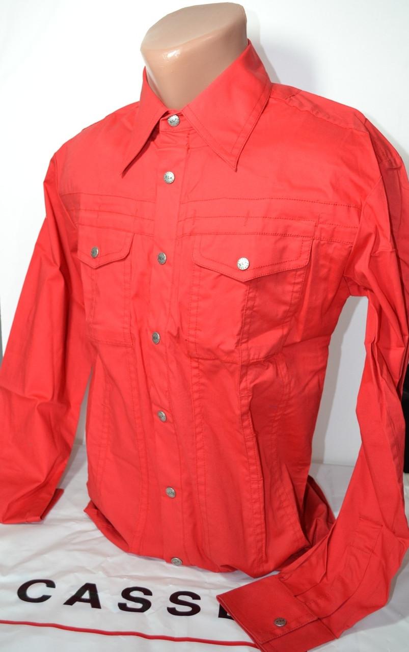 Красная приталенная рубашка ESCADA (размеры 37.38,39,40.41.42,43)