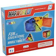 Магнитный конструктор MagWorld 14 деталей радуга Rainbowаналог Magformers