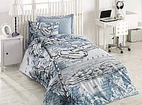 Подростковое постельное белье Cotton Box Cotton Plane Mavi