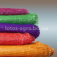Сетка овощная (5, 10, 20, 25, 30, 40 кг) фиолетовая, красная, желтая, зелёная оптом