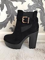 Женские ботинки демисезонные (36-40) замша искусственная купить в Розницу в Одессе Украина 7км