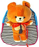 """Детский рюкзак игрушка """"Мишка"""" светло-коричневый 0530, фото 1"""