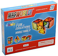 Магнитный конструктор MagWorld 20 деталей радуга Rainbow аналог Magformers
