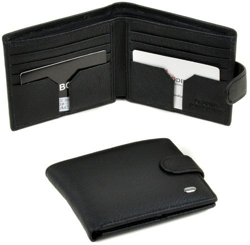 Модный мужской кошелек из натуральной кожи dr.Bond M59-1 black