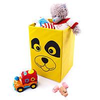 Коробка для игрушек 25х25х38 см (заяц, собачка, тигр, лягушка, мышка, город)