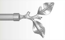 Декоративный наконечник Лист розы для кованого карниза 19 мм.