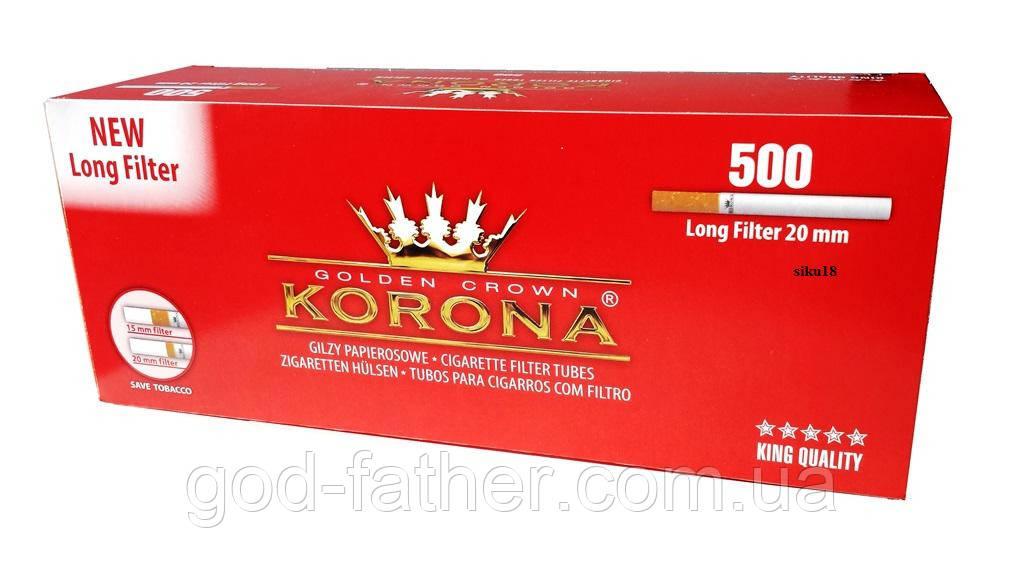 10000шт. Сигаретные гильзы для набивки табаком опт (фильтр 20мм. 10000шт. Koronа)