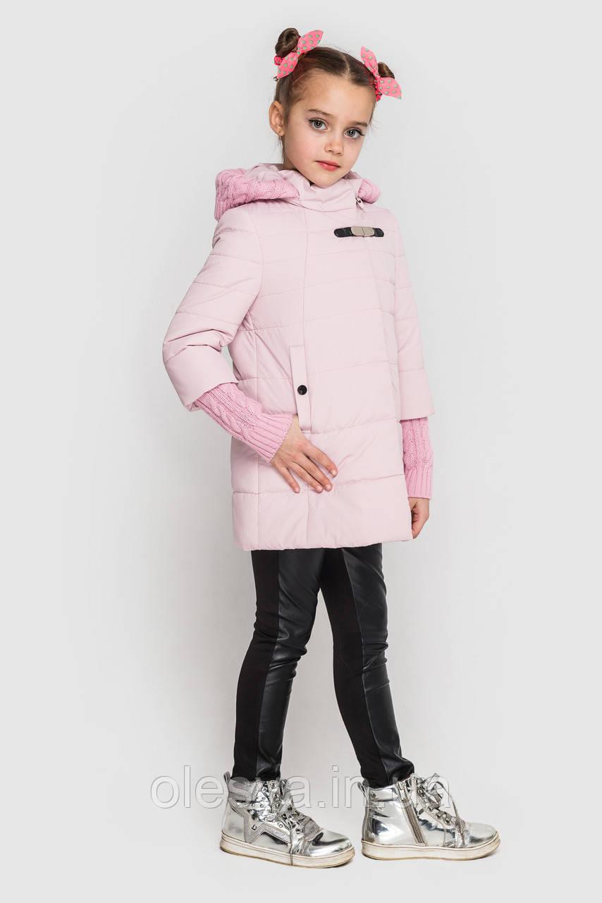 Куртка пальто на девочку плащевка на силиконе, Стейси Размеры 104 -116, 158 Модная стильная