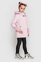 Куртка пальто на девочку плащевка на силиконе, Стейси Размеры 104 -122 Модная стильная новинка