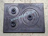 Плита пічна чавунна на три конфорки, фото 2