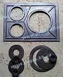 Плита пічна чавунна на три конфорки, фото 3