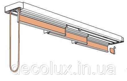 Японские шторы 450 см, 4 ламели, Coulisse Голландия, управление шнуровое