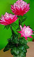 """Цветочный топиарий для интерьера """"Розовые Астры"""""""