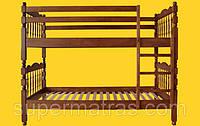 Кровать двухъярусная из натурального дерева Тис Трансформер 2