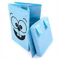 Коробка для игрушек 35х35х55 см (заяц, собачка, тигр, лягушка, мышка, город)