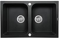 Мойка кухонная Perfelli Celine PGC 2081-76 (black metallic)