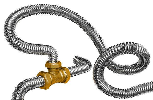 Труба гофрированная 32мм из нержавеющей стали Dispipe 32GF, неотожженная