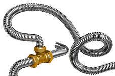 Труба гофрированная 20мм из нержавеющей стали с ПЭ оболочкой для газа Dispipe 20HFPY, отожженная, фото 3
