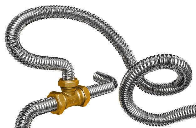 Труба гофрированная 32мм из нержавеющей стали Dispipe 32GF, неотожженная, фото 2