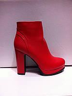 Ботинки ботильоны женские красные код 946
