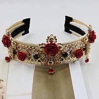 Ободок_обруч в стиле Dolce&Gabbana