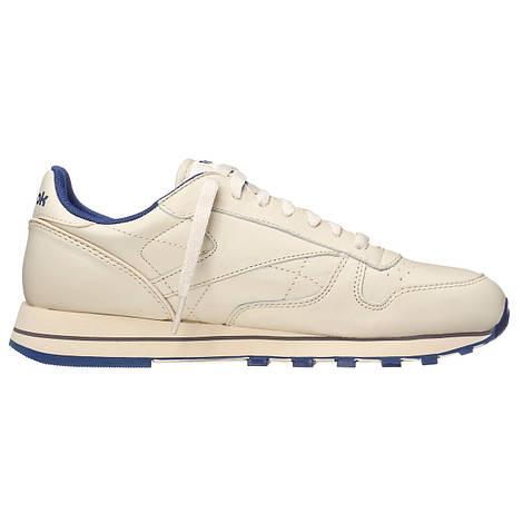 Мужские кроссовки  Reebok Classic Leather (Ecru / Navy)