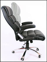 Офисное кожаное кресло Deko раскладное коричневое, фото 2