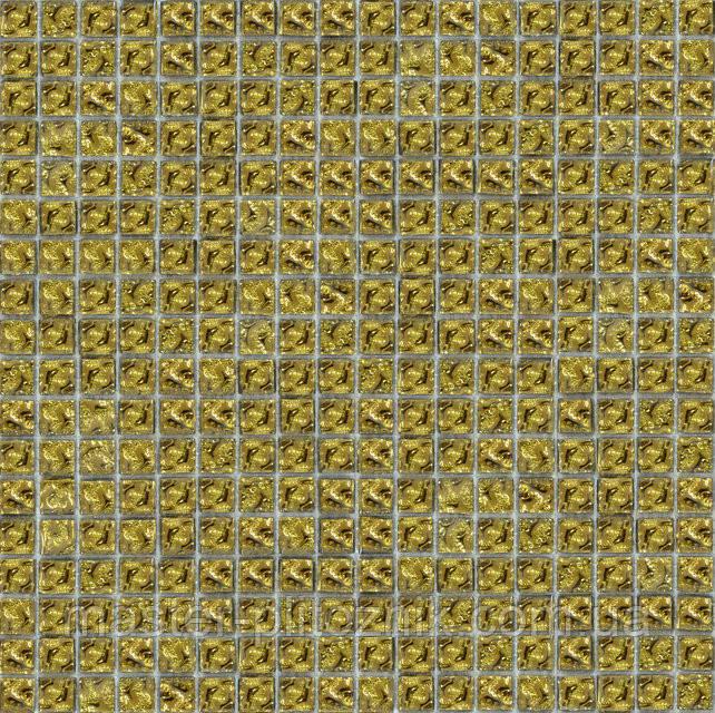 Мозайка моно рельефный золото