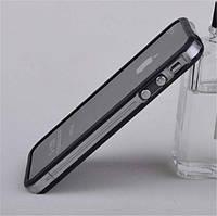 Бампер для iPhone 4S, черный с полоской