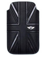 Чехол MINI Cooper Union Jack leather sleeve для iPhone 4/4S, черный