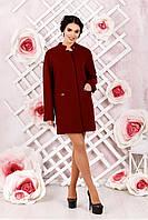 Короткое  женское пальто кирпичного цвета В-997 Букле Тон 6  44,54,56,60 размер