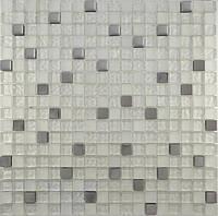 Мозайка микс металик-серебро