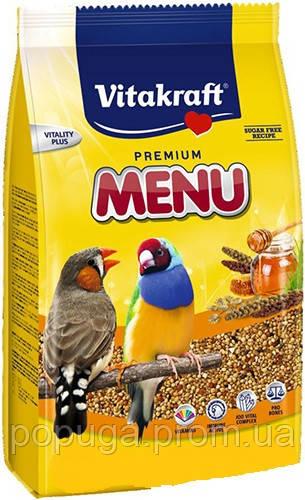 Корм для экзотических птиц Vitakraft Premium Menu Exotis Витакрафт 1кг.