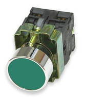 Кнопка NP2-BA34 металл 2NC AC 6V-230V зелёная
