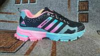 Подростковые|женские беговые кроссовки Adidas фитнес+зал+бег