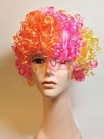 Карнавальный Искусственный Парик Разноцветный Клоун для Вечеринки Маскарад