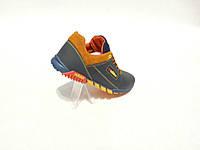 Кожаные мужские кроссовки adidas ч/рыж