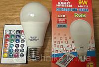 Суперлампа LED RGB 9w С ПДУ!