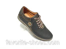 Кожаные мужские спортивные туфли черные ecco Barzoni