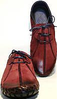 Мокасины мужские Luciano Bellini 23406 R, бордовые, нубук