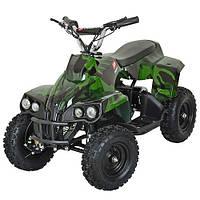 Одноместный детский квадроцикл Profi HB-EATV 800C-10 (Зеленый-Хаки)
