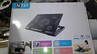 Подставка под ноутбук с охлаждением Notebook N137 с 5 вентиляторами (14''-17''), фото 1