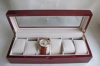"""Шкатулка для часов """"Патриция"""" деревянная на 6 отделений"""