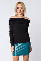 Короткая кожаная юбка Абра бирюзовая