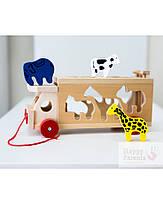 Машинка сортер с животными